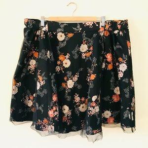 Torrid Floral Overlay Skirt